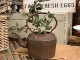 XL Antique Cast Iron Kettle