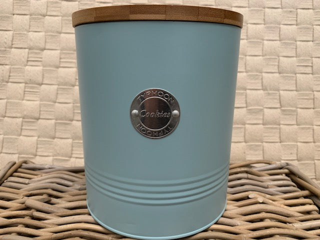 Duck Egg Blue Cookies Storage Tin