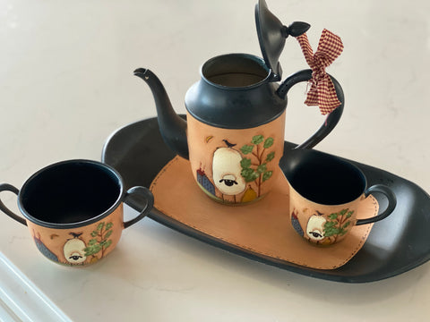Vintage Painted Tea Set