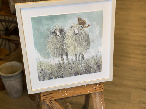 The Sheep Chook Framed Picture
