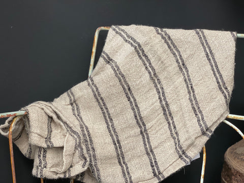 HANDLOOMED 100% Linen Stripe Runner