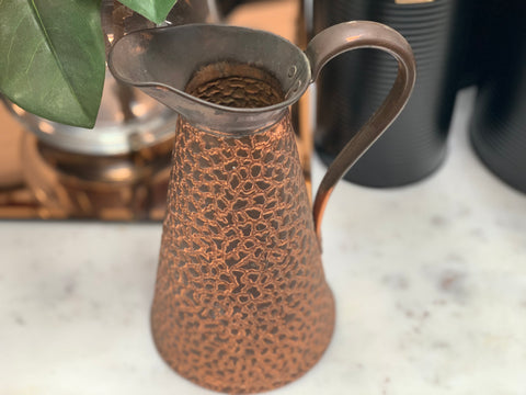 Vintage Copper Tall Jug