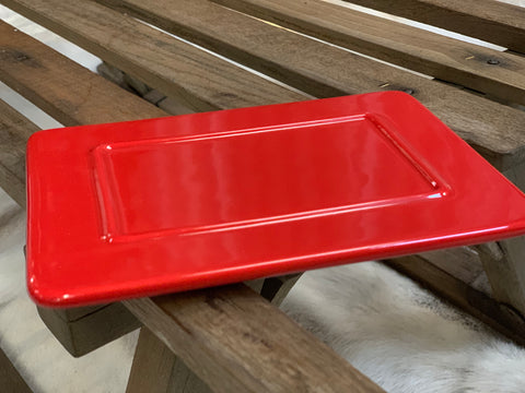 RED Ceramic Butter Dish