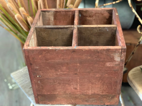 Vintage Timber Compartment BOX