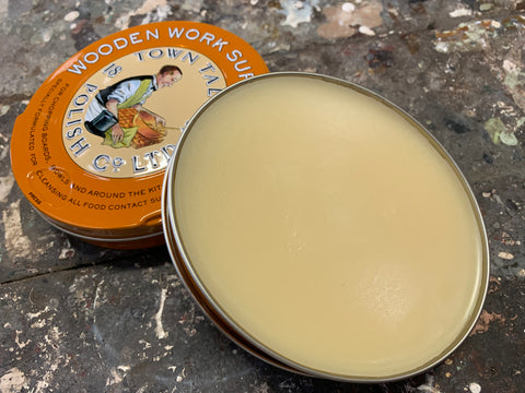 Vintage Style Wood Polish in a Tin