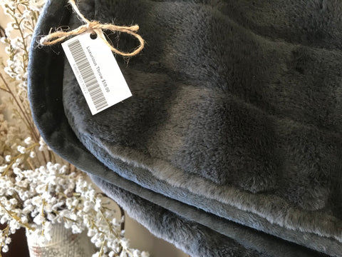 Luxurious Charcoal Throw