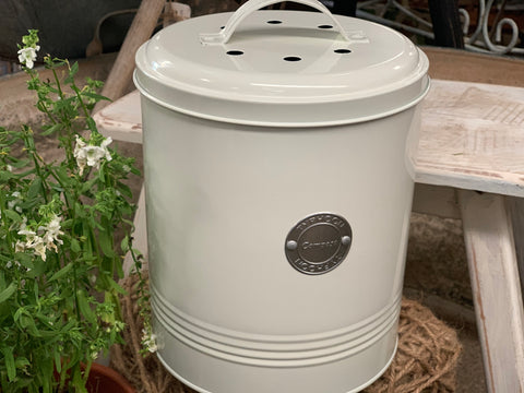 2.5L Cream Compost Bin with Bucket