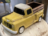 Yellow Ceramic Ute Planter FREE Postage