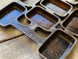 Vintage Cast IRON Metters Tray