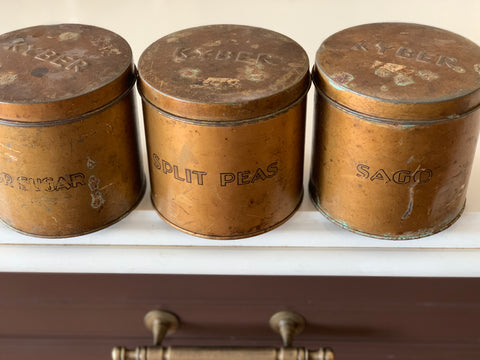 Vintage Copper Canisters