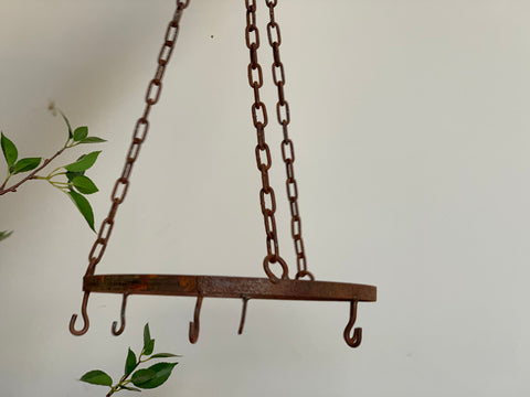 RUSTY Hanging Herb/Pot Rack