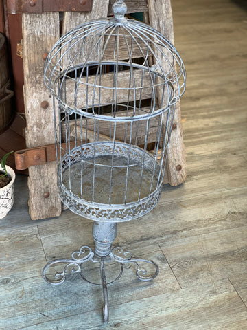 Provincial Bird Cage on Stand