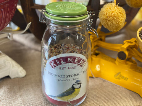 2L Bird Seed Jar Ceramic Clip Top