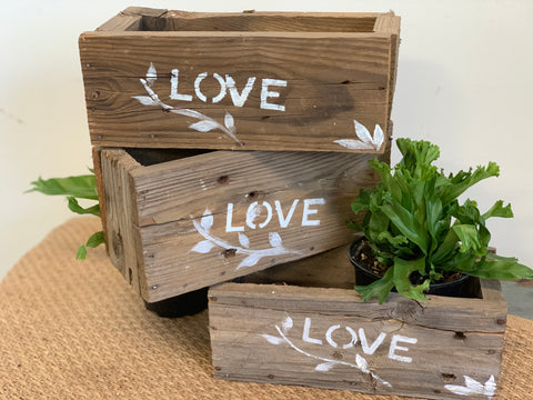Handmade Timber LOVE Box