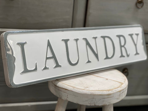 Enamel LAUNDRY Sign FREE Postage
