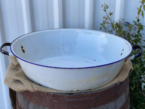 Large Vintage Oval Wash Tub