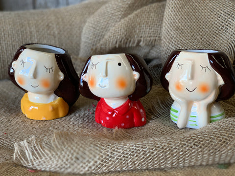 Set of 3 Quirky LADIES Planters