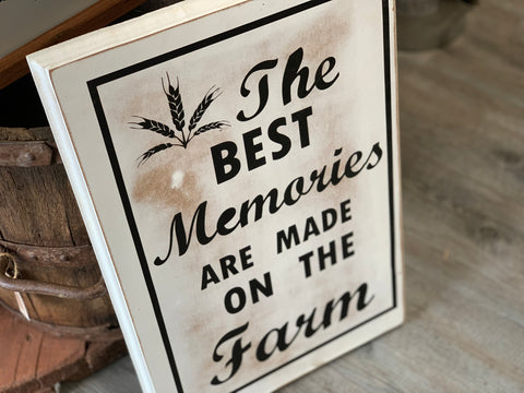 The Best Memories Handmade Sign
