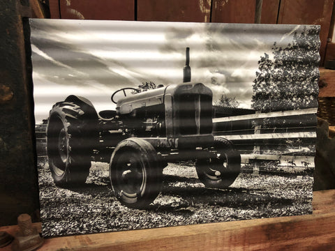 Tin Vintage Tractor Sign