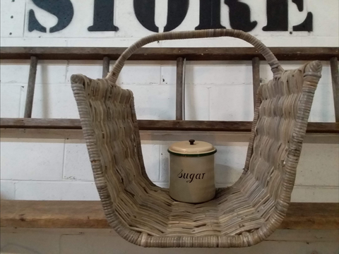 WOOD Carry All Rattan Basket