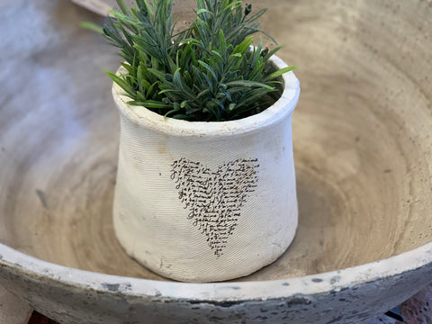 French Heart Pot