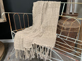 HANDLOOMED 100% Linen Throw