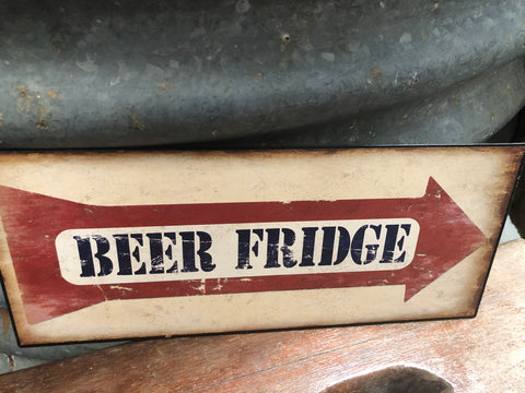Beer Fridge Tin Sign