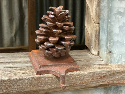Pine Cone Cast Iron Hook RUST