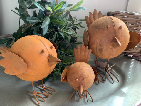MIXED Set of 3 RUSTY Tweety Birds