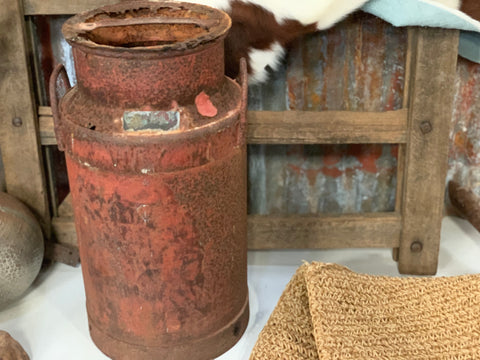 Vintage Rusty Milk Can