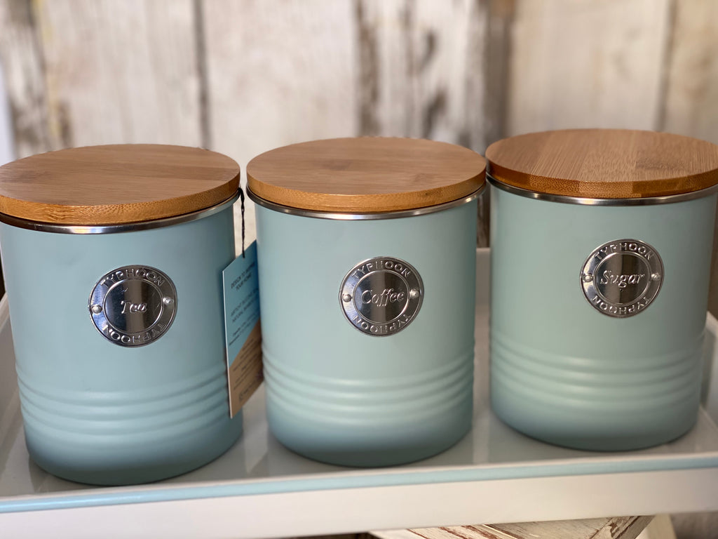 Duck Egg Blue Canister Set