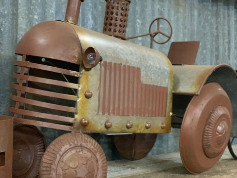 XL RUSTY Tractor FREE Shipping with REAL Lights