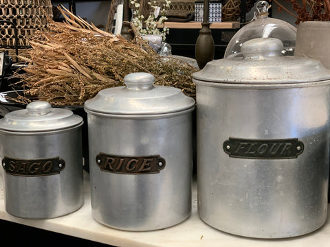Vintage Canister Set of 3
