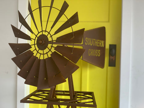 NEW Southern Cross 1.6 Metre Rusty Windmill