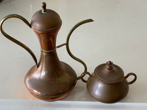 Vintage Copper Tea Pot Jug