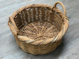 Round Vintage Weathered basket with Handles