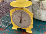 Vintage YELLOW Scales