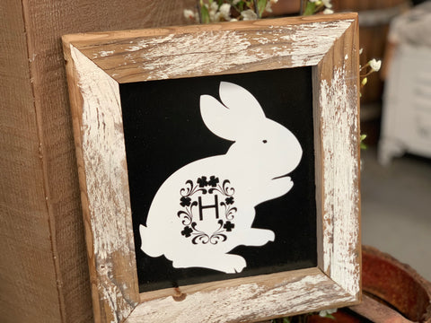 Easter Bunny Handmade Sign H