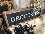 Handmade Groceries Sign