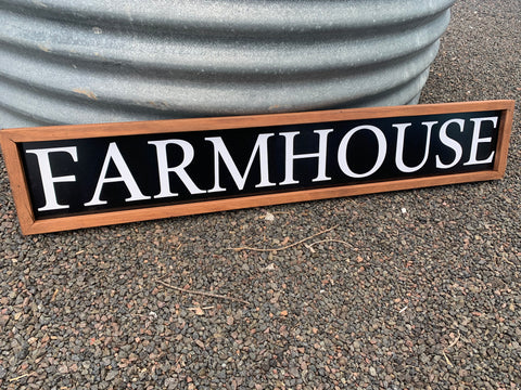 XL Handmade FARMHOUSE Sign