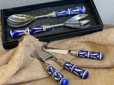 BLUE Mosaic Salad Servers