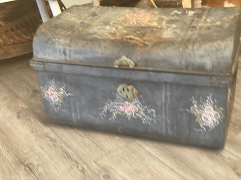 Hand painted Vintage TRUNK