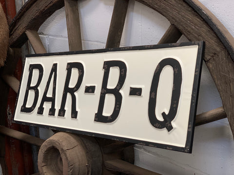 BAR-B-Q Enamel Sign