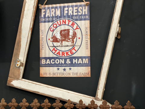 Farm Fresh COUNTRY Market Sign