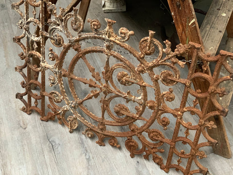 Ornate Cast Iron Panel
