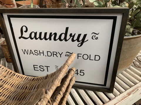 Laundry & Co Handmade Sign