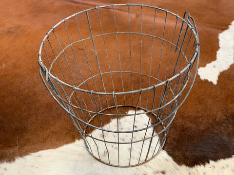 Vintage Wire Bottomless Basket Lampshade