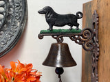 XL Cast Iron Dachshund BELL