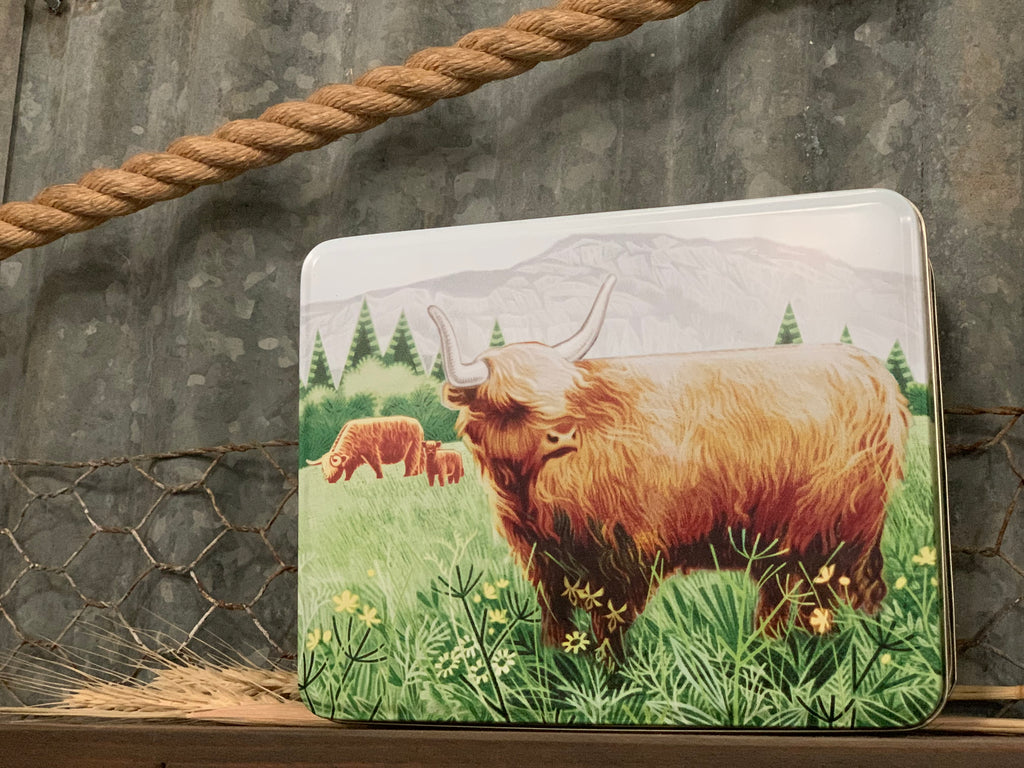 Highland HUGH Biscuit Tin
