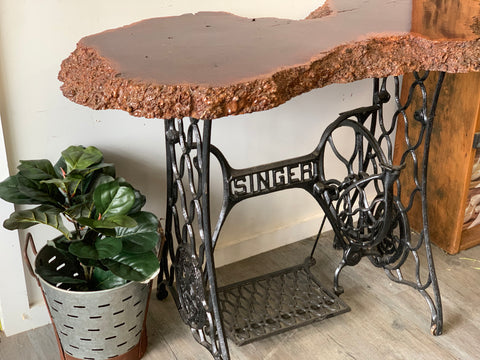 Upcycled Singer Sewing Table
